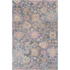 Kendall Green Floral Hand Hooked Wool Black/Charcoal Area Rug Rug Size: Rectangle 2' x 3'