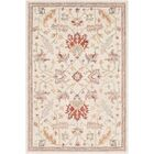 Rimrock Traditional Floral Hand Hooked Wool Khaki Area Rug Rug Size: Rectangle 8' x 10'