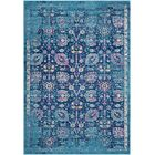 Kay Teal/Navy Area Rug Rug Size: Rectangle 7'10