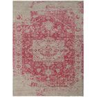 Ocracoke Distressed Floral Hand Wool Knotted Pink/Khaki Area Rug Rug Size: Rectangle 8' x 10'