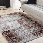 Ridgecrest Distressed Vintage Dark Red/White Area Rug Rug Size: Rectangle 7'10