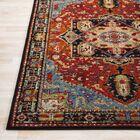 Ridgecrest Vintage Oriental Dark Red/Black Area Rug Rug Size: Rectangle 7'10