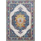 Lillo Distressed Traditional Blue/Yellow Area Rug Rug Size: Rectangle 5'3