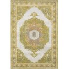 Lillo Distressed Traditional Lime/Tan Area Rug Rug Size: Runner 2'3