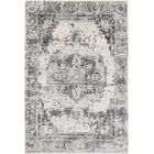 Lillo Floral Gray/White Area Rug Rug Size: Rectangle 7'10
