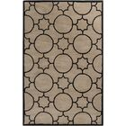 Lepus Geometric Hand-Tufted Wool Tan/Black Area Rug Rug Size: Rectangle 8' x 10'