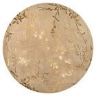 Gonzalo Tan/Gold Rug Rug Size: Round 8'