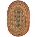 Burdock Gold Variegated Area Rug Rug Size: Oval 4' x 6'