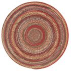 Burdock Red Variegated Area Rug Rug Size: Round 8'6