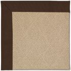 Lisle Machine Tufted Brown/Beige Indoor/Outdoor Area Rug Rug Size: Square 4'