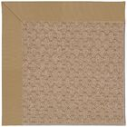 Lisle Machine Tufted Light Gold and Beige Indoor/Outdoor Area Rug Rug Size: Square 6'