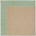 Lisle Cane Wicker Machine Tufted Green Spa/Brown Indoor/Outdoor Area Rug Rug Size: Rectangle 10' x 14'