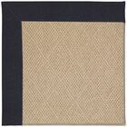 Lisle Machine Tufted Dark Navy/Brown Indoor/Outdoor Area Rug Rug Size: Square 10'