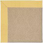 Lisle Machine Tufted Lemon and Beige Indoor/Outdoor Area Rug Rug Size: Square 6'