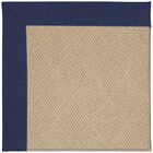 Lisle Machine Tufted Navy/Brown Indoor/Outdoor Area Rug Rug Size: Rectangle 8' x 10'
