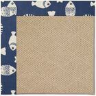 Lisle Machine Tufted Pitch/Brown Indoor/Outdoor Area Rug Rug Size: Round 12' x 12'