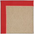 Lisle Machine Tufted Red/Beige Indoor/Outdoor Area Rug Rug Size: Rectangle 5' x 8'