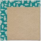 Lisle Machine Tufted Sea Green/Brown Indoor/Outdoor Area Rug Rug Size: Square 6'