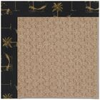 Lisle Machine Tufted Jet Black Indoor/Outdoor Area Rug Rug Size: Square 10'