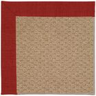 Lisle Machine Tufted Tomatoes/Brown Indoor/Outdoor Area Rug Rug Size: Square 8'