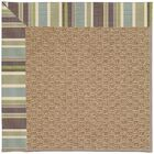 Lisle Machine Tufted Multi-colored/Brown Indoor/Outdoor Area Rug Rug Size: Square 6'