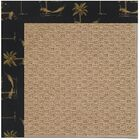 Lisle Machine Tufted Jet Black/Brown Indoor/Outdoor Area Rug Rug Size: Rectangle 3' x 5'