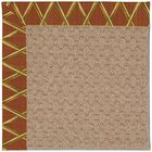 Lisle Machine Tufted Cinnabar Honey/Brown Indoor/Outdoor Area Rug Rug Size: Rectangle 7' x 9'