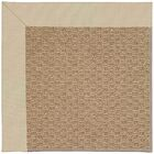 Lisle Machine Tufted Ecru/Brown Indoor/Outdoor Area Rug Rug Size: Square 10'