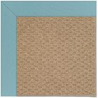 Lisle Machine Tufted Bright Blue/Brown Indoor/Outdoor Area Rug Rug Size: Square 8'