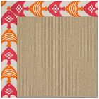 Lisle Machine Tufted Autumn/Brown Indoor/Outdoor Area Rug Rug Size: Square 6'