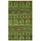 Round About Acrobat Hand Knotted Limeade Area Rug Size: 8' x 10'