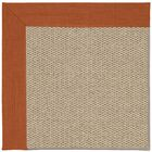 Barrett Machine Tufted Persimmon/Beige Area Rug Rug Size: Rectangle 7' x 9'
