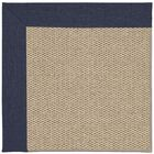 Barrett Champagne Machine Tufted Navy/Beige Area Rug Rug Size: Square 8'