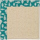 Lisle Machine Tufted Sea Green Indoor/Outdoor Area Rug Rug Size: Rectangle 7' x 9'