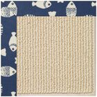 Lisle Machine Tufted Pitch/Beige Indoor/Outdoor Area Rug Rug Size: Square 4'