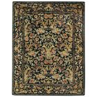 Garden Farms Black Floral Area Rug Rug Size: Rectangle 8' x 11'