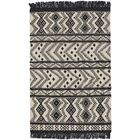 Pillar Black/White Area Rug Rug Size: 7' x 9'