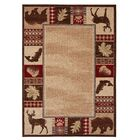 Spengler Burgundy/Brown Area Rug Rug Size: 5'3
