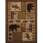 Sayre Pine Montage Lodge Brown / Ivory Area Rug Rug Size: 7'10