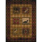 Sayre Lodge Stamp Ivory Area Rug Rug Size: 7'10