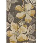 Ganley Floral Canvas Area Rug Rug Size: 5'3