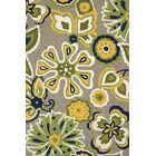 Atrium Handmade Yellow and Blue Indoor/Outdoor Area Rug Rug Size: 5' x 7'6