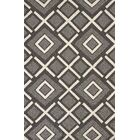 Atrium Handmade Gray and White Indoor/Outdoor Area Rug Rug Size: 5' x 7'6
