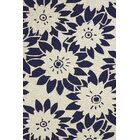 Atrium Handmade White and Black Indoor/Outdoor Area Rug Rug Size: 5' x 7'6