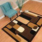 Eloise Brown/Black Area Rug Rug Size: Rectangle 5'3