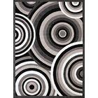 Eloise Gray/Black Area Rug Rug Size: Rectangle 5'3