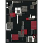 Eloise Black/Red Area Rug Rug Size: Rectangle 5'3