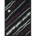 Eloise Black/White Area Rug Rug Size: Rectangle 7'10
