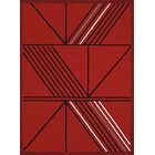 Partlow Red Area Rug Rug Size: Rectangle 7'10