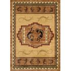 Genesis Ancient Icon Natural Area Rug Rug Size: 5'3